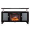 Wildon Home ® Sutton Black Infrared Media Electric Fireplace