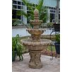 Danelle Resin Outdoor Fountain with Light - Finish: Sandstone - Fleur De Lis Living Indoor and Outdoor Fountains