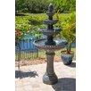 Dane Resin Outdoor Floor Fountain with Light - Fleur De Lis Living Indoor and Outdoor Fountains