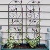 Rustic Plant Design Steel Gothic Trellis - Wildon Home Trellises