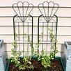 Flower Design Steel Gothic Trellis - Wildon Home Trellises
