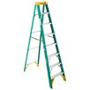 Werner 8 ft Fiberglass Step Ladder with 225 lb. Load Capacity