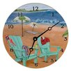 """Lexington Studios Travel and Leisure 10"""" Skinny Dipping Wall Clock"""
