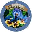 "Lexington Studios 18"" Pansies Wall Clock"