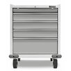 "Gladiator Premier Series Pre-Assembled 35"" H x 28"" W x 25"" D Steel 5-Drawer Rolling Garage Cabinet in White"