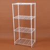 "Gold Sparrow Wire 46.46"" Four Shelf Shelving Unit"