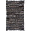 St. Croix Matador Leather Chindi Brown Hand Woven Area Rug