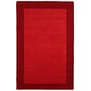 St. Croix Pulse Border Red Hand Woven Area Rug