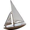 St. Croix Kindwer Aluminum Sail Boat Sculpture
