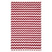 St. Croix Hacienda Red/White Chevron Area Rug