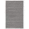 St. Croix Hacienda Black/Ivory Chevron Area Rug