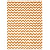 St. Croix Hacienda Orange/White Chevron Area Rug