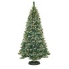 General Foam Plastics 7' Frosted Pine Christmas Tree with 500 Clear Lights