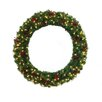 "General Foam Plastics 48"" Lighted Multi Tip Semi Decorated Wreath"