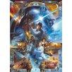 Komar Star Wars Luke Skywalker Collage 2.54m L x 184cm W Wallpaper