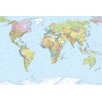 Komar World Map 2.48m L x 368cm W Wallpaper
