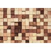 Komar 8 Piece Lumbercheck Wall Mural Set