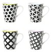 Contento Cool Black Mug Set (Set of 4)
