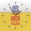 Contento Analoge Wanduhr Keep Calm It's Almost Beer O'Clock