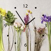 Contento Flower Mix Analogue Wall Clock