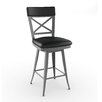 """Amisco Library Luxe Style 30.25"""" Swivel Bar Stool with Cushion"""