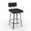 "Amisco New York Style 26"" Swivel Bar Stool with Cushion"