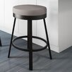 "Amisco Clock 30"" Swivel Bar Stool with Cushion"