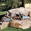 Children Solitude Girl Statue - Size: Medium - Brass Baron Garden Statues and Outdoor Accents