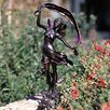 Dancing Faerie Statue - Color: Bronze - Brass Baron Garden Statues and Outdoor Accents