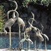 Brass Baron Birds Crane Pair Fountain