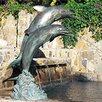 Brass Baron Double Dolphin Fountain