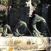 Brass Baron Single Dolphin Fountain