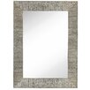 Majestic Mirror Contemporary Shiny Rectangular Polished Pewter Framed Hanging Glass Wall Mirror
