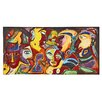 Majestic Mirror Colorful Tribal Faces Mixed Media Painting Print Plaque