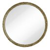 Majestic Mirror Simple Circular Textured Framed Glass Wall Mirror