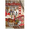 Majestic Mirror Large San Francisco Trolley Painting Print Plaque