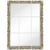 Majestic Mirror Large 9 Piece Mirror Set with Ornate Antique Silver Frame