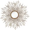 Majestic Mirror Glamourous Starburst Circular Shiny Decorative Glass Wall Mirror