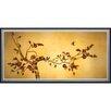 Oriental Furniture Birds on Plum Tree Framed Painting Print