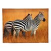 Oriental Furniture Plains Zebras Photographic Print on Wrapped Canvas