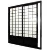 "Oriental Furniture 83"" x 73.5"" Single Sided Sliding Door Shoji Room Divider"