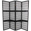 "Oriental Furniture 70.75"" x 69"" Window Pane 4 Panel Room Divider"