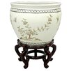 Oriental Furniture Lacquer Birds and Flowers Vase