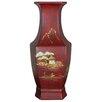 Oriental Furniture Hexagonal Vase