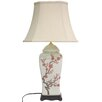 """Oriental Furniture 26"""" H Table Lamp with Bell Shade"""