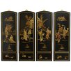 Oriental Furniture 4 Piece Ladies Soapstone Wall Décor Set