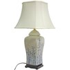 """Oriental Furniture Vase 26"""" H Table Lamp with Bell Shade"""