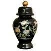 Oriental Furniture Birds and Flowers Temple Decorative Urn