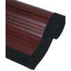 Oriental Furniture Bamboo Rayon Mahogany Area Rug