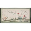 """Oriental Furniture 36"""" x 72"""" Birds and Flowers Courting 4 Panel Room Divider"""